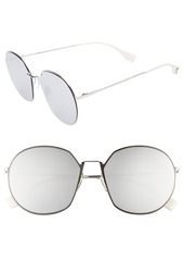 Fendi 59mm Round Special Fit Sunglasses