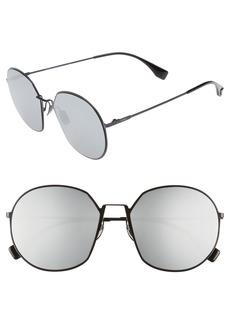 Fendi 59mm Round Special Fit Sunglasses