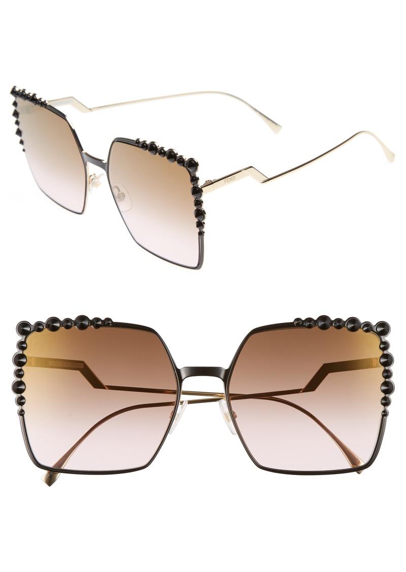 8aa48b8ae3c Fendi Fendi 60mm Gradient Square Cat Eye Sunglasses