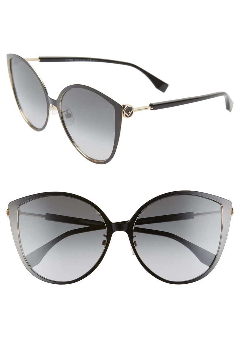 Fendi 60mm Special Fit Cat Eye Sunglasses