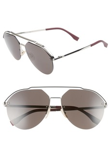 Fendi 61mm Aviator Sunglasses