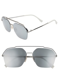 Fendi 61mm Navigator Sunglasses