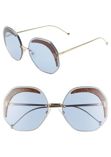 Fendi 63mm Oversize Geometric Sunglasses