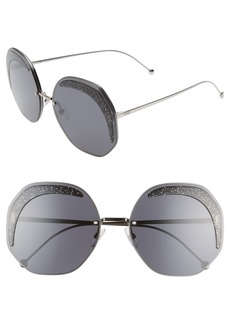 Fendi 63mm Oversize Geometric Sunglasses