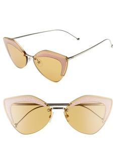 Fendi 66mm Oversize Cat Eye Sunglasses