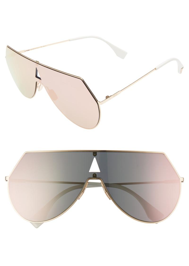 Fendi 99mm Eyeline Aviator Sunglasses