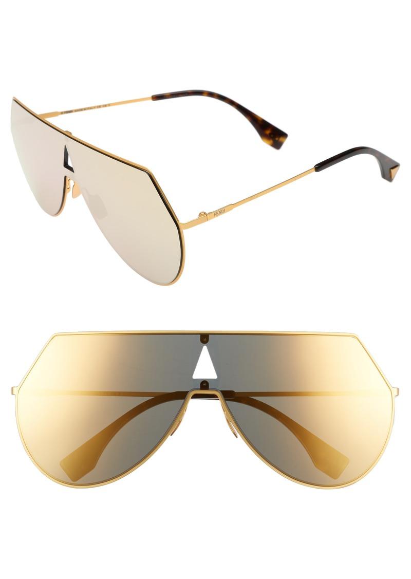 9fd1f9da150 Fendi Fendi 99mm Eyeline Aviator Sunglasses