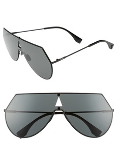 Fendi 99mm Eyeline Aviator Sunglasses