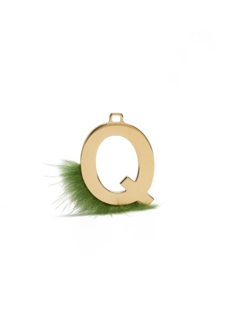 fendi fendi abclick letter q key charm