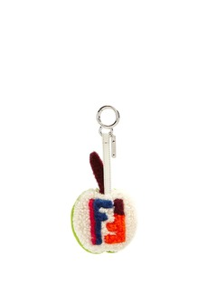 Fendi Apple shearling bag charm
