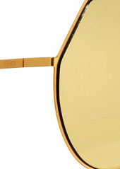 e02430a839 Fendi Aviator-style gold-tone and acetate mirrored sunglasses ...