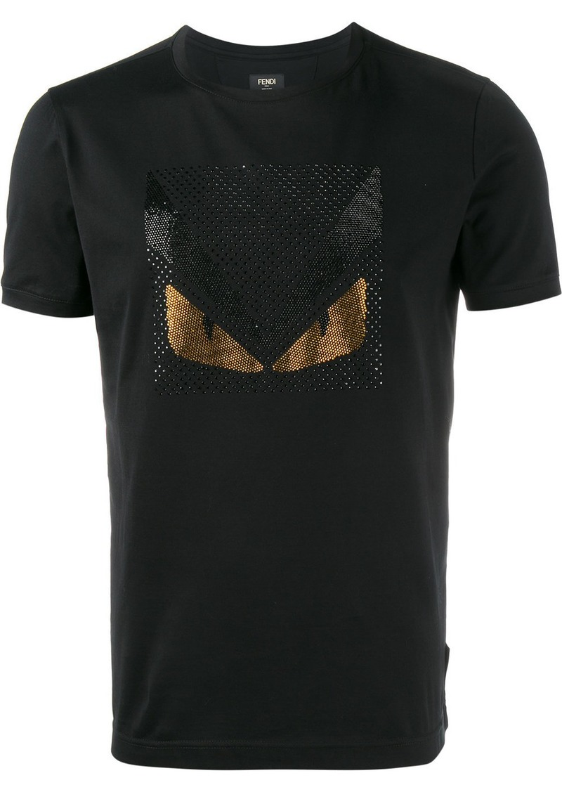 Fendi Bag Bugs crystal embellished t-shirt