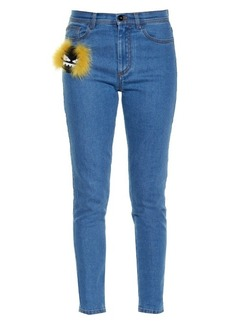 Fendi Bag Bugs embellished slim-leg jeans