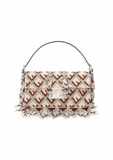 Fendi Baguette FF Beaded Shoulder Bag