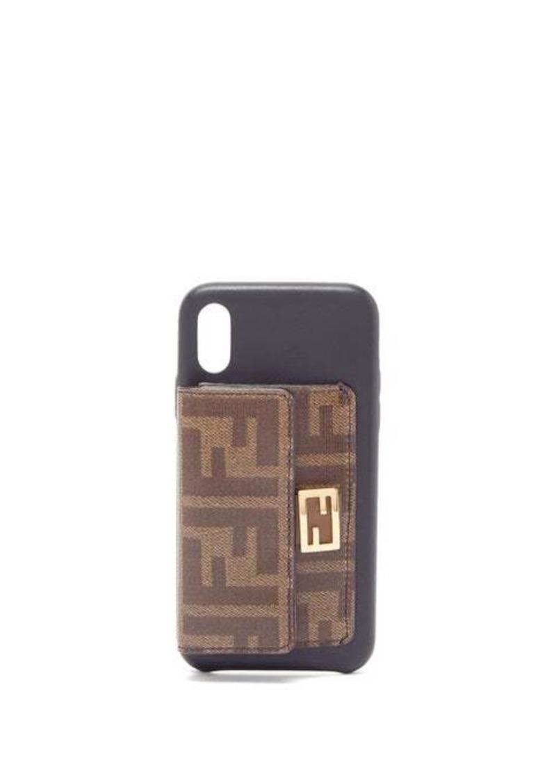 Fendi Baguette FF-wallet iPhone X case