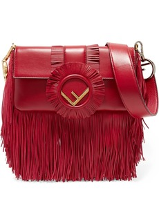 Fendi Baguette fringed leather shoulder bag