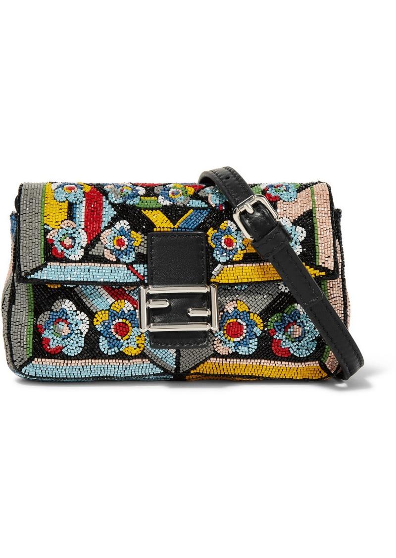 a2f6f7aa3386 Fendi Fendi Baguette micro embellished satin shoulder bag