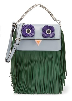 Fendi Baguette micro fringed leather shoulder bag
