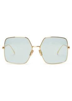 Fendi Baguette oversized square metal sunglasses