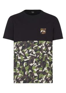 Fendi Big Bugs Pattern Block T-Shirt