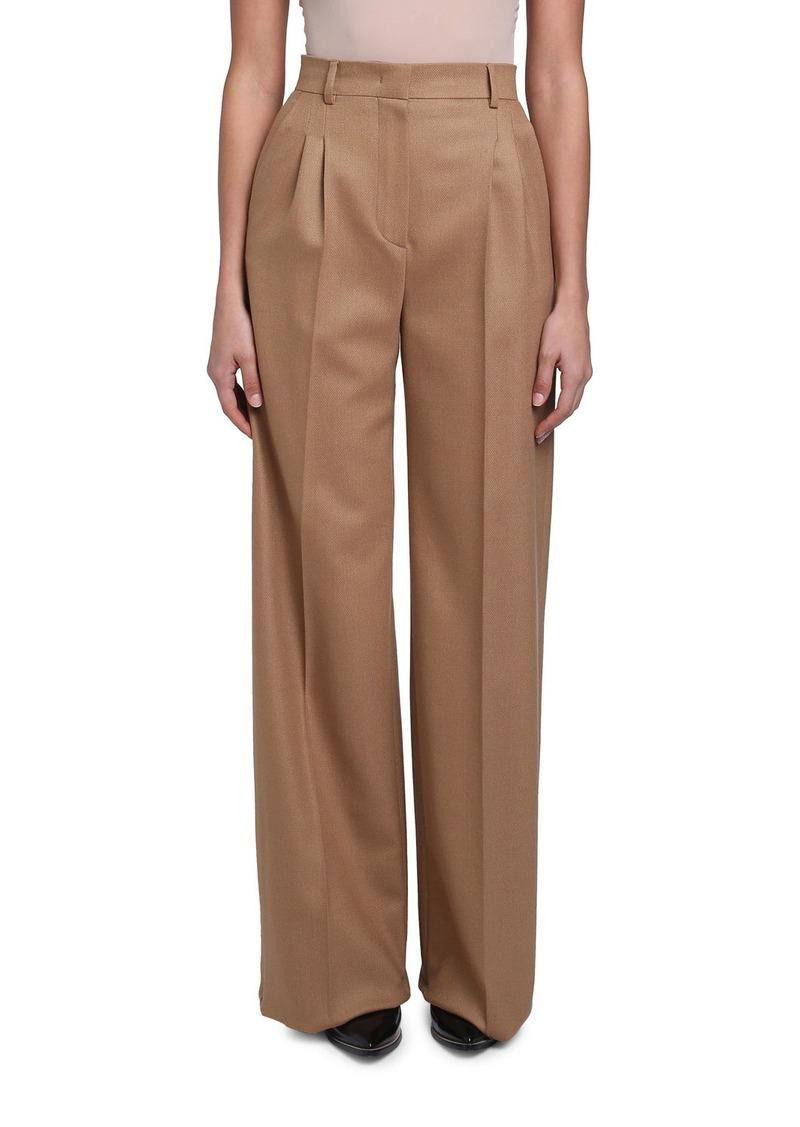 Fendi Birdseye Wool Wide-Leg Pants