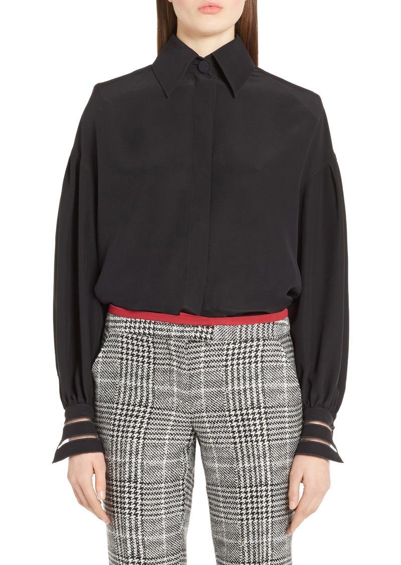 d2579dbb5478cd On Sale today! Fendi Fendi Bishop Sleeve Silk Blouse