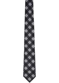 Fendi Black Checked 'Forever Fendi' Silk Tie