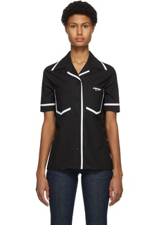 Fendi Black Eco Popeline Short Sleeve Shirt