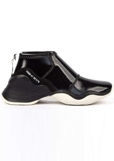 Fendi Black Glossy Neoprene Sneaker