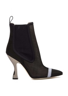 Fendi Black Nylon Ankle Boots