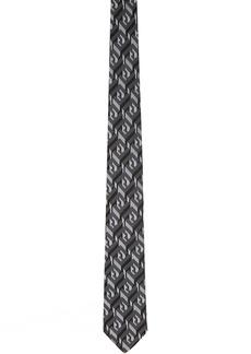 Fendi Black Silk 'Forever Fendi' Tie
