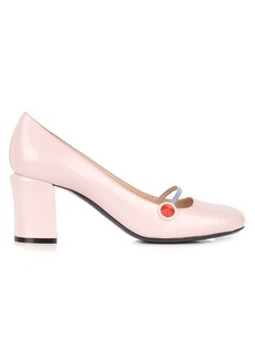 Fendi Block-heel leather pumps