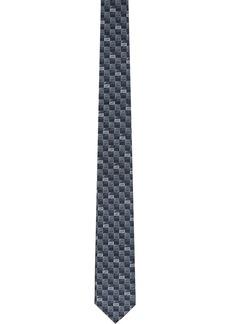 Fendi Blue & Grey Silk 'Forever Fendi' Tie