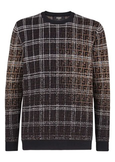 Fendi Blurred FF Logo Wool Sweatshirt