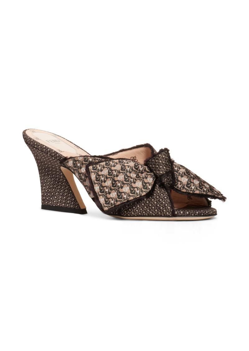 Fendi Bow Slide Sandal (Women)