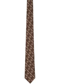 Fendi Brown Silk 'Forever Fendi' Tie