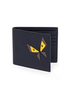 Fendi Butterfleyes Leather Bifold Wallet