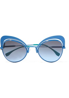 Fendi Butterfly-frame metal sunglasses