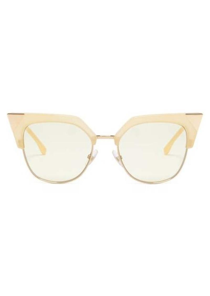 Fendi Cat-eye metal & acetate sunglasses