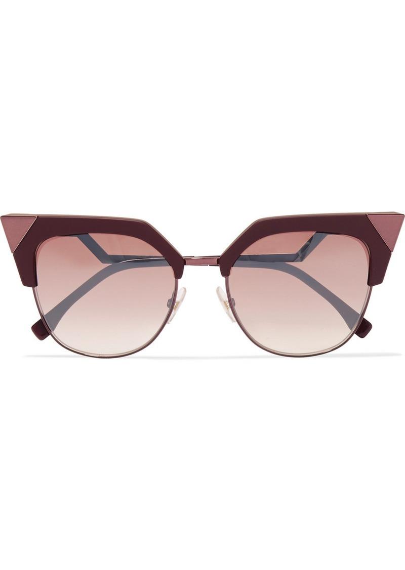 c43c38f13 Fendi Fendi Cat-eye acetate and metal sunglasses | Sunglasses - Shop ...