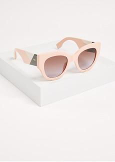Fendi Cat Eye Colorblock Sunglasses