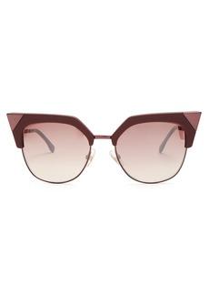 Fendi Cat-eye metal and acetate sunglasses