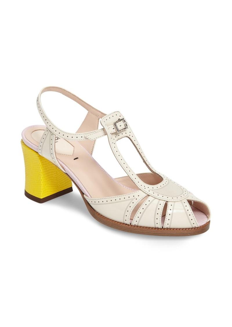 73562007c24 Fendi Fendi  Chameleon  Leather Sandal (Women)