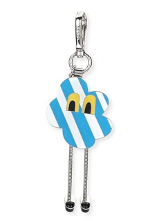 Fendi Cloud Eyes Striped Metal Charm for Men's Bag