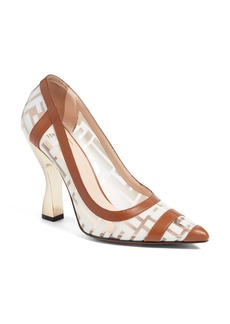 Fendi Colibri Clear Logo Pump (Women)