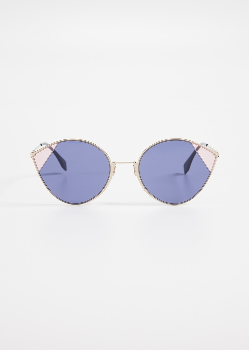 93c3bbce76 Fendi Fendi Color Block Cat Eye Sunglasses