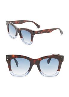 Fendi Colorblock 56MM Square Sunglasses