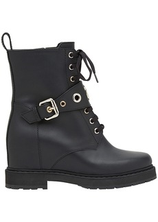 Fendi concealed-wedge lace-up boots - Black