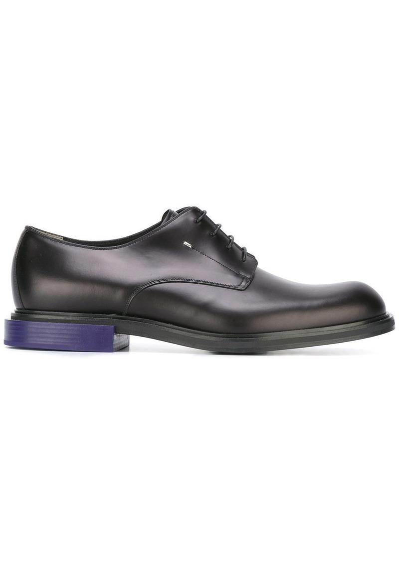 Fendi contrast heel derby shoe - Black