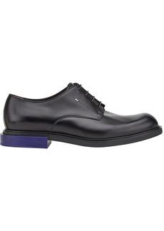 Fendi contrast heel lace-up shoes - Black